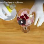 Receta Ginsin: Ginsin Strawberry con frambuesas – plátano