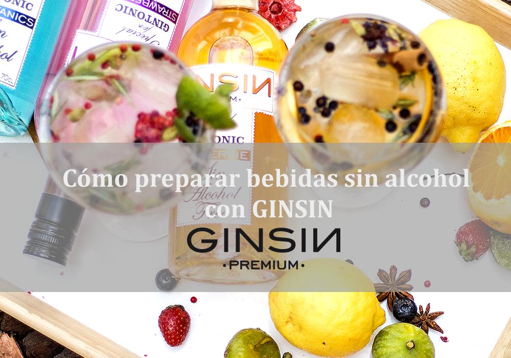 Cómo preparar bebidas sin alcohol con GINSIN