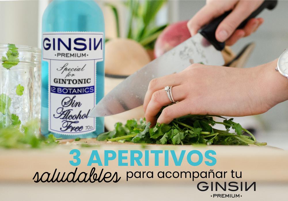tres aperitivos saludables con GINSIN